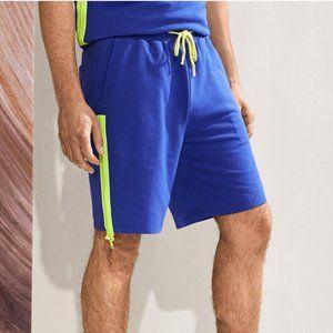 Other - Men Shorts Zipper Side Sweat Blue Med. New!